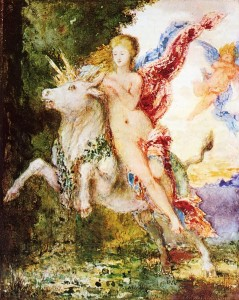 Goddess Europa and the Bull