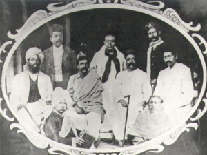 Aurobindo with other freedom fighters