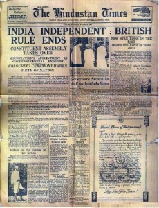 15th August 1947, First News Paper of INDEPENDENT INDIA