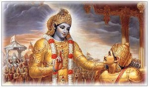 krishna with his student Arjuna