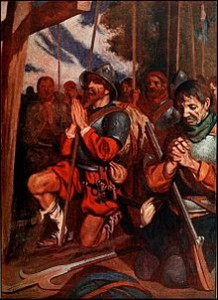 conquistadors praying