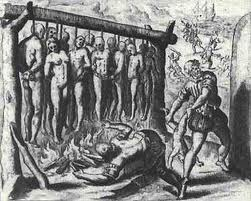 Natives being tortured and killed