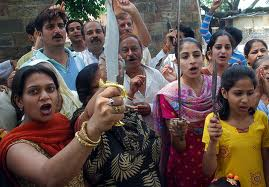 hindu women with knives
