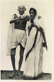 Gandhi with Rajkumari Amrit Kaur