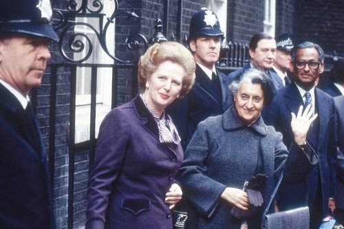 indira-gandhi in Uk with Margaret thatcher