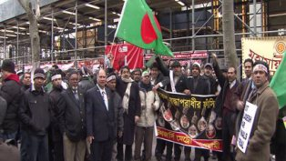 Hundreds of New Yorkers protest political unrest in Bangladesh