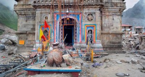 Kedarnath temple survives devastation but nothing else