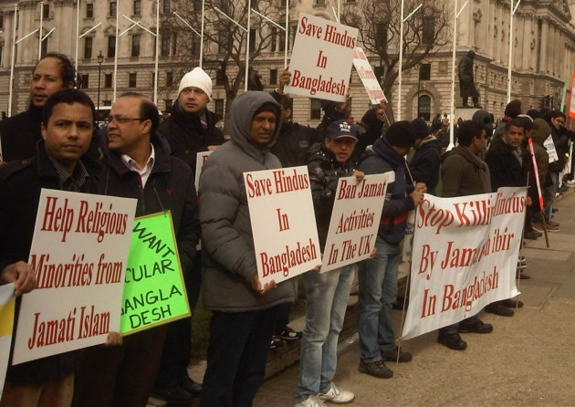 Bangladeshis in London protest attacks on Hindus