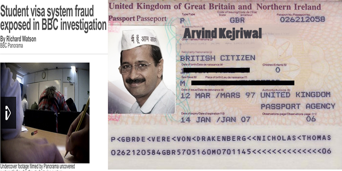 Video : Aam Aadmi Party – Anti Corruption Cult Members caught running Visa Scam