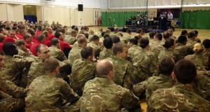 British Army Given a talk on the Bhagavad Gita