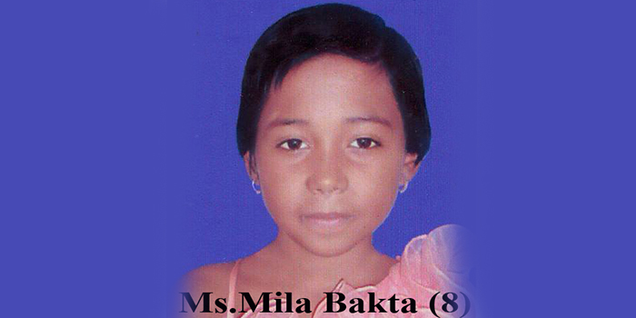 Bangladesh : 8 year old Mila Bakta Raped