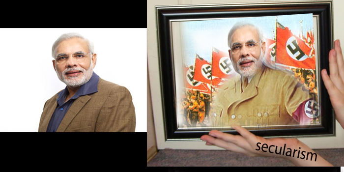 The Gujarat textbook affair : Framing Modi as a Nazi