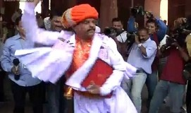 BJP Gujarat MP Devji Fatehpura dances outside Parliament