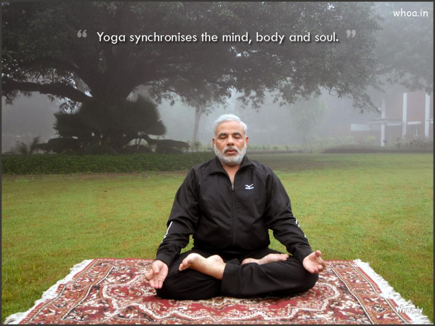 narendra modi Yoga Wallpaper