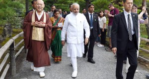 Modi in Japan: PM visits two ancient Buddhist temples