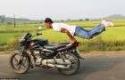 Video : Motorbike Yoga: Man Pulls Yoga Poses On Speeding Bike