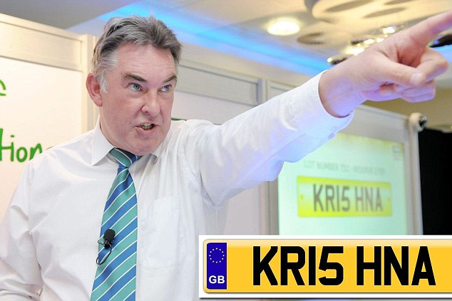 KR15 HNA Licence plate sets new record new British record