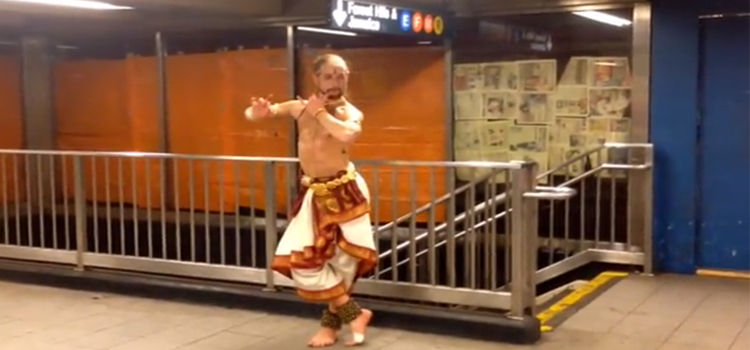 Video :  'White' Bharatha Natyam Performer Attacked for Dancing at NYC Subway Station and his Excellent Reply