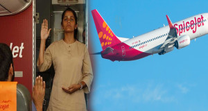 HHR Video : SpiceJet takes Yoga to the skies, asanas performed mid-air at 35,000 feet
