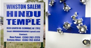 North Carolina: Hindu temple sign hit with over 60 shotgun blasts