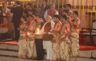 HHR Video : Japanese PM Shinzo Abe attends Holy Ganga Aarti at Varanasi