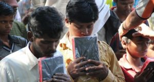 Man found reading Bible at Tirupati