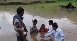 India : Baptizing Tribal Hindus to Christianity  In Orissa