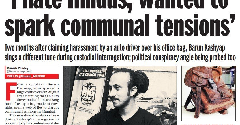 Man who spread fake story about gau-rakshaks says he did it because he hates Hindus