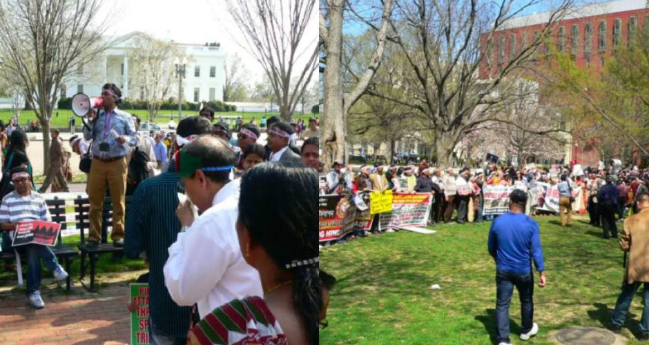Bangladeshi Hindus protest in front of White House