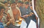 Mock Puja at 'Hindu College' where they give condom as prashad